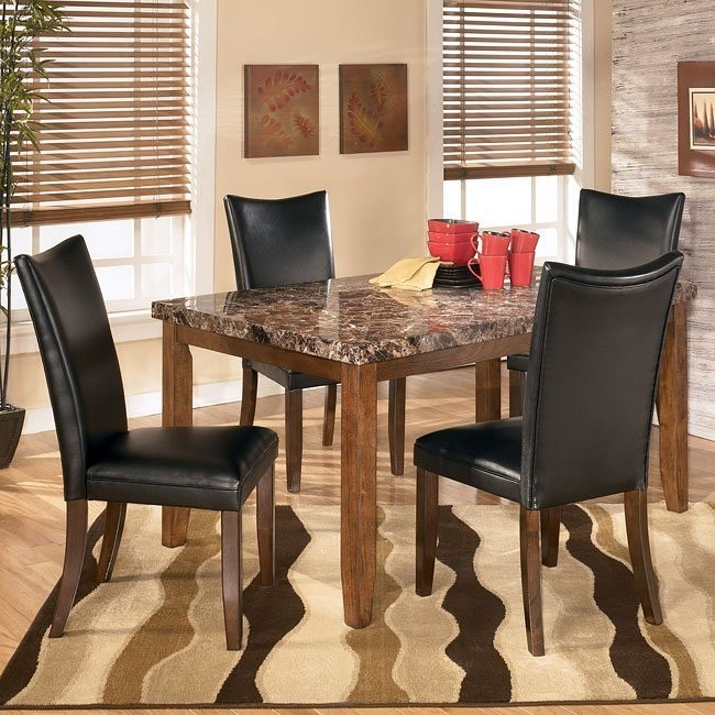 Lacey Dining Room Set with Charrell Black Chairs