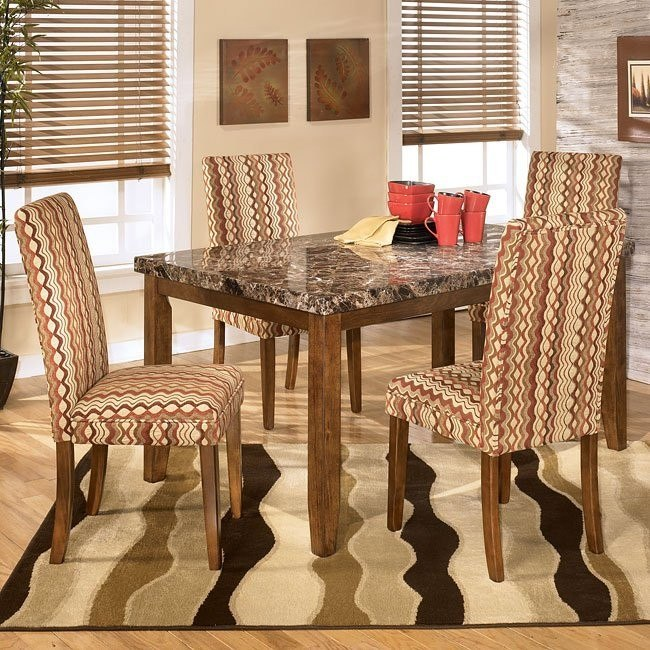 Lacey Dining Room Set with Sangria Chairs