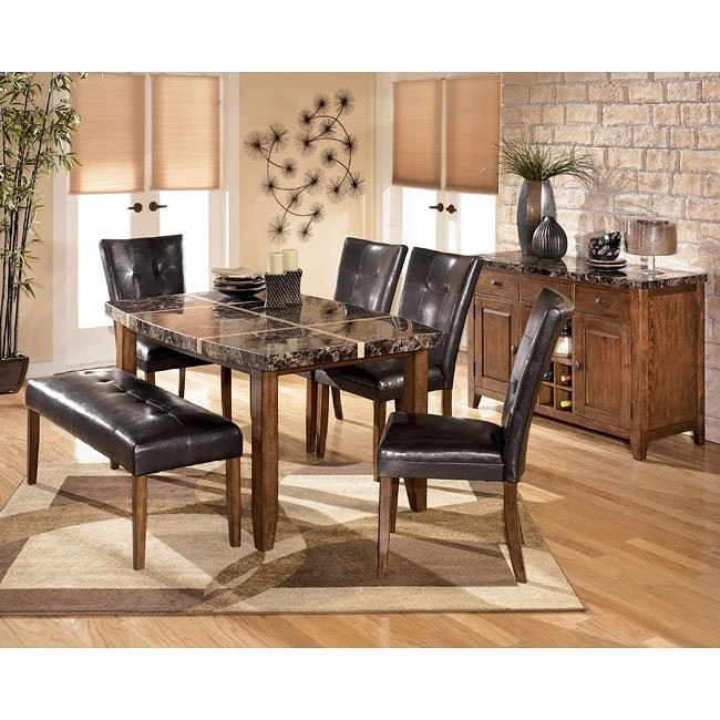 Lacey Boat Shaped Dining Room Set with Bench