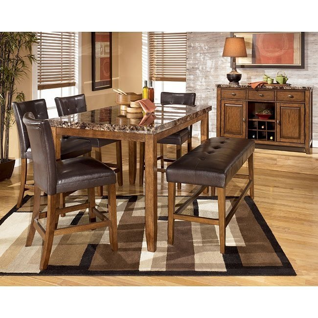 Lacey Counter Height Dining Room Set with Bench