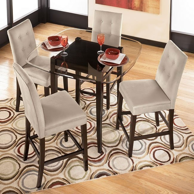 Newbold Square Counter Height Dinette with Stone or Spa Stools