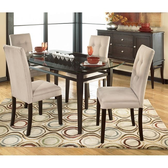 Newbold Glass Top Dining Room Set with 4 Chair Options