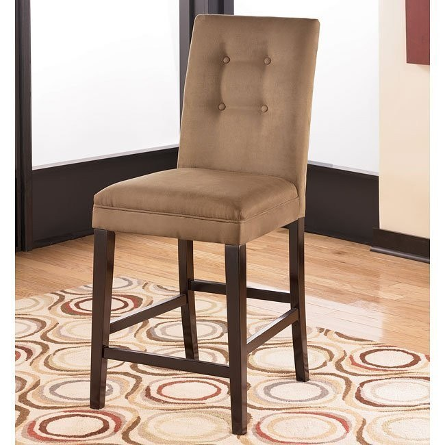 Newbold 24 inch Bar Stool (Set of 2) (Mocha)