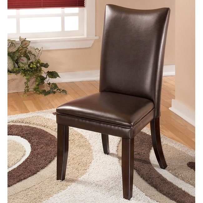 Charrell Side Chair (Set of 2) (Brown)