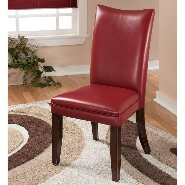 Charrell Side Chair (Set of 2) (Red)
