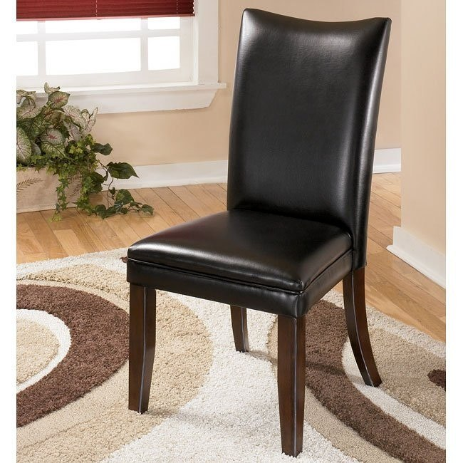 Charrell Side Chair (Set of 2) (Black)