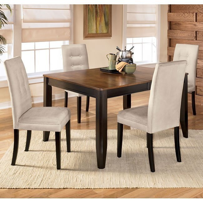 Alonzo Dining Room Set with Newbold Stone Chairs
