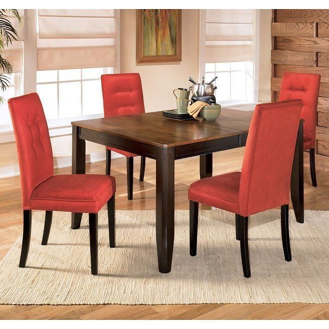 Alonzo Dining Room Set with Newbold Salsa Chairs
