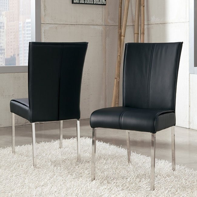 Baraga Side Chair (Black) (Set of 2)