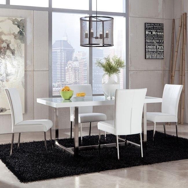 Baraga Dining Room Set (White)
