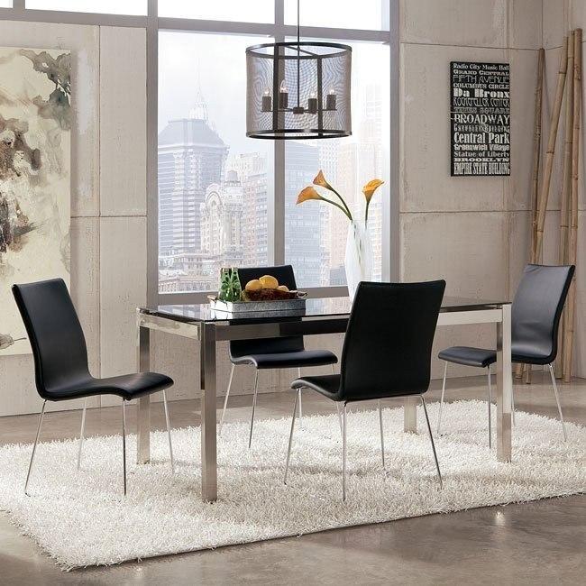 Baraga Dining Room Set w/ Black Daryl Chairs