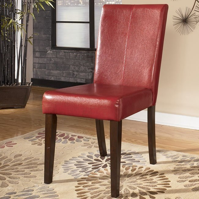 Hansai Side Chair (Red) (Set of 2)