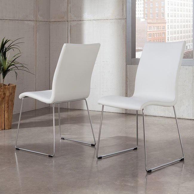 Daryl Side Chair (White) (Set of 2)