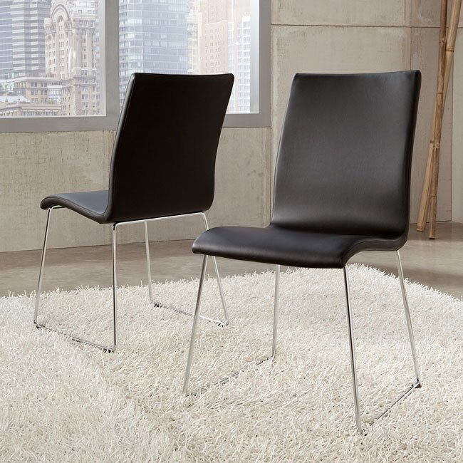 Daryl Side Chair (Black) (Set of 2)