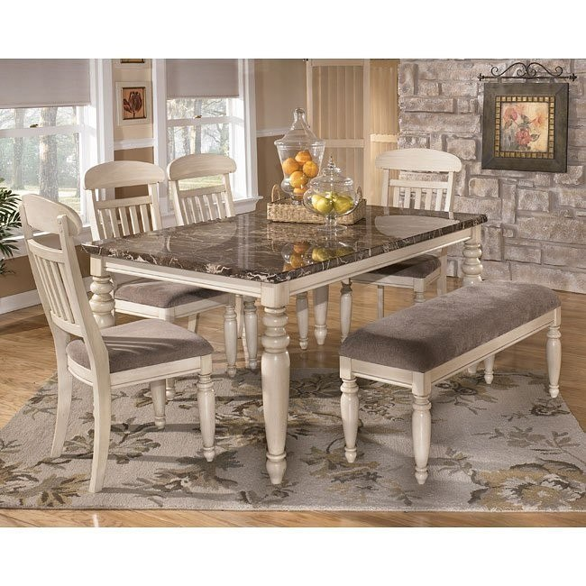 Manadell Dining Room Set with Bench