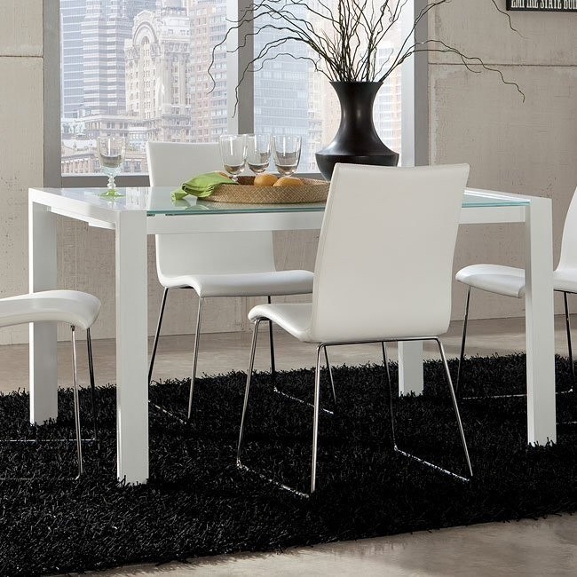 Martina Extension Dining Table (White)