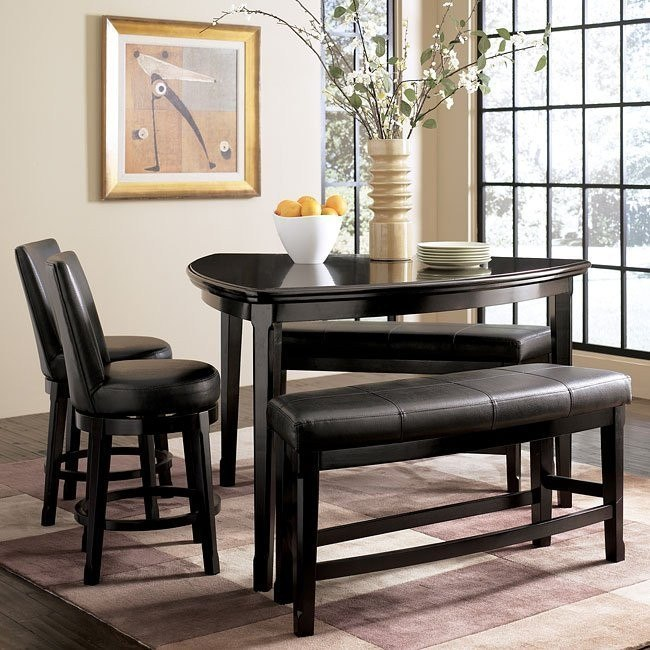 Emory Counter Dinette with Benches and Chairs