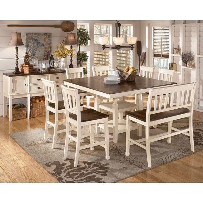 Whitesburg Counter Height Dining Room Set