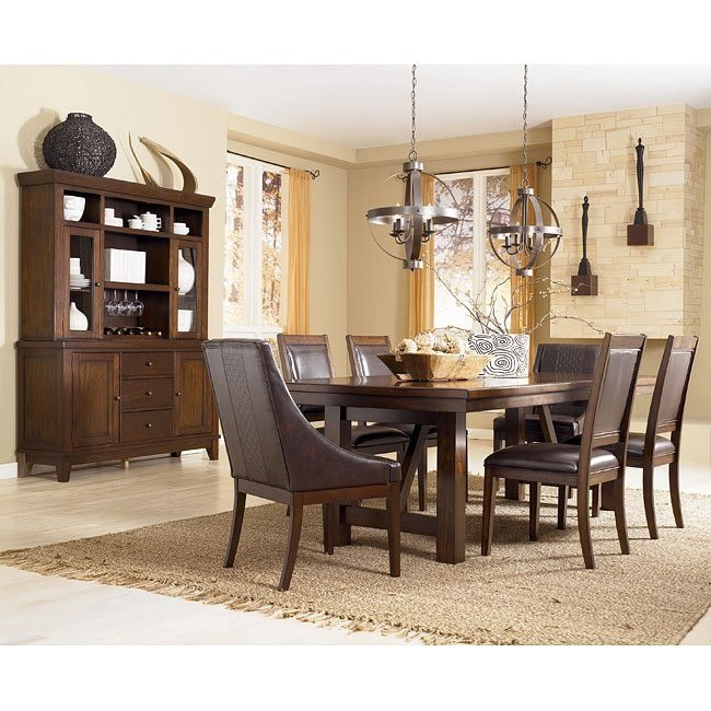 Holloway Formal Dining Room Set w/ Arm Chairs