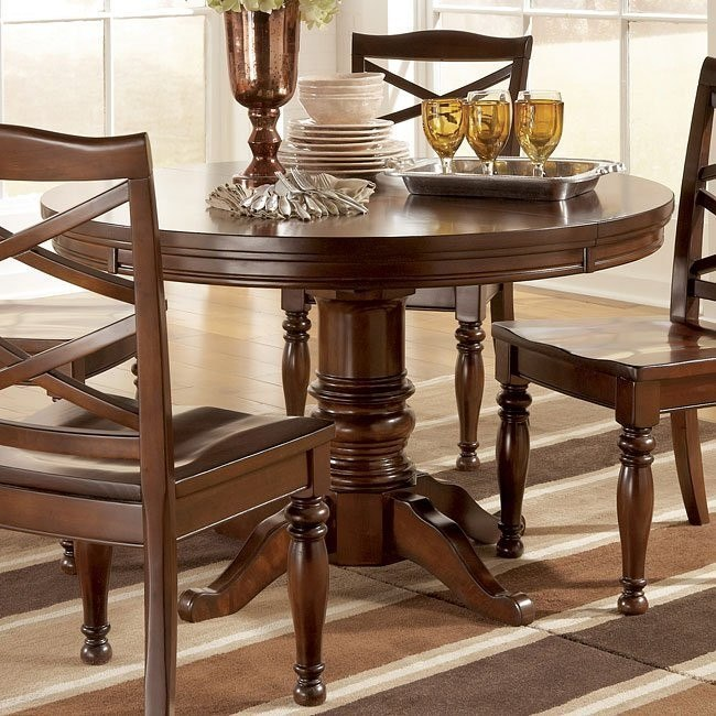 Porter Round Oval Dining Table Signature Design By Ashley Furniture Furniturepick