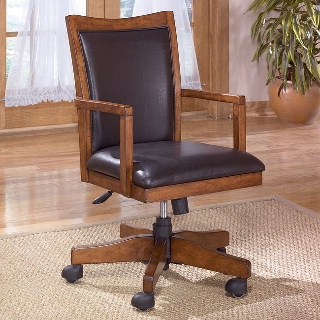Cross Island Swivel Arm Chair w/ Casters