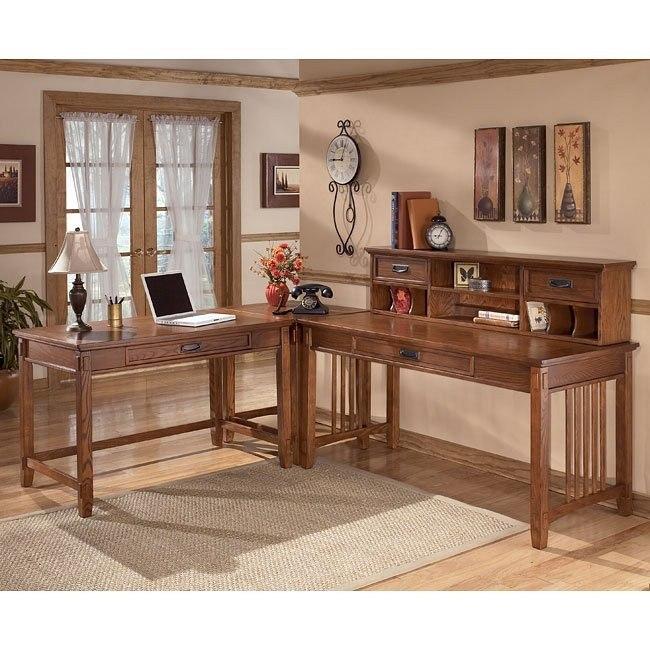 Cross Island Corner Office Set w/ Low Hutch and Leg Desk