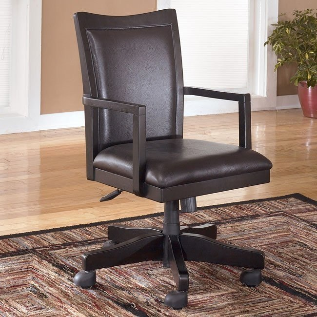 Carlyle Swivel Arm Chair w/ Casters