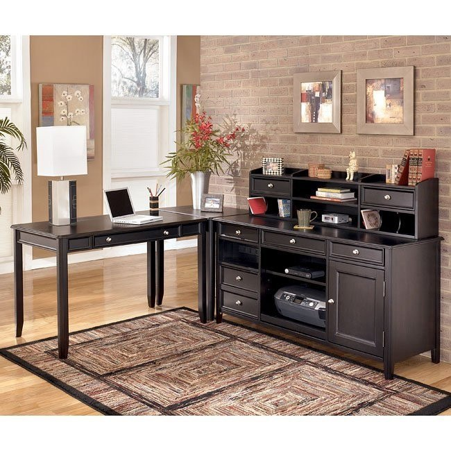 Carlyle Corner Home Office Set w/ Credenza