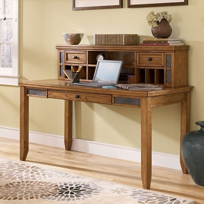 Kinley Large Leg Desk with Small Hutch