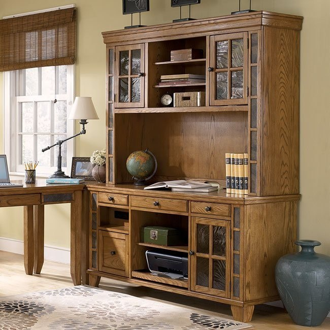 Kinley Credenza with Large Hutch