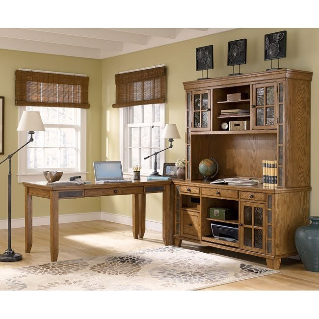 Kinley Home Office Set w/ Large Hutch Credenza