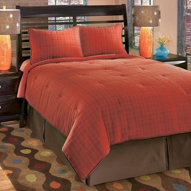 Interlude - Brick 4-Piece Bedding Set