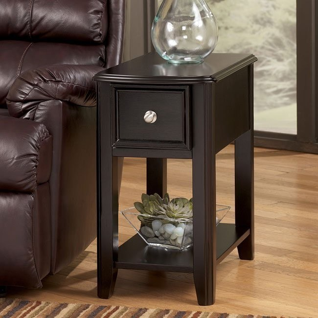 Almost Black Chairside End Table