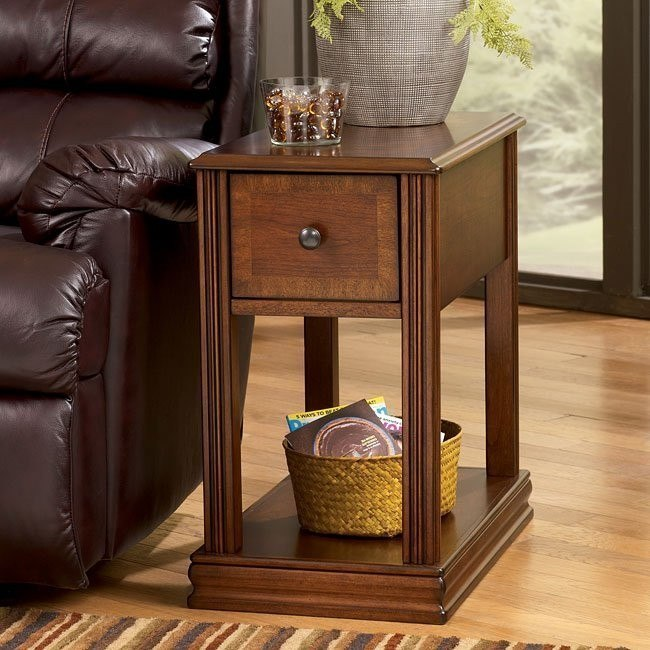Brown Chairside End Table