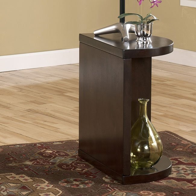 Dark Brown Chairside End Table