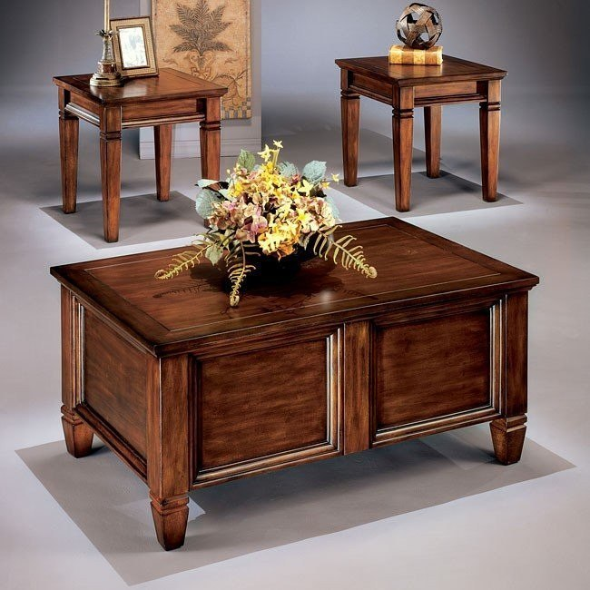 Bongo 3-in-1 Occasional Table Set w/ Storage Table