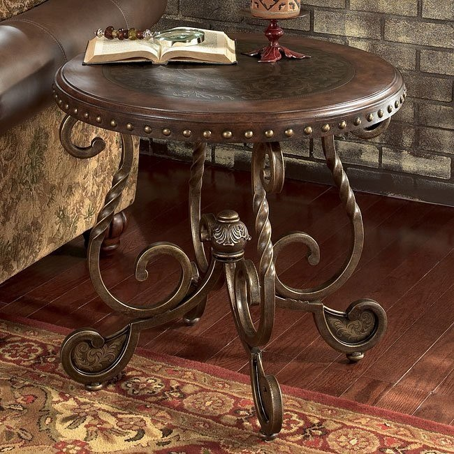 Rafferty Round End Table Signature Design by Ashley ...