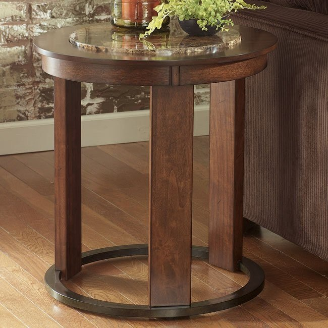Theo Round End Table