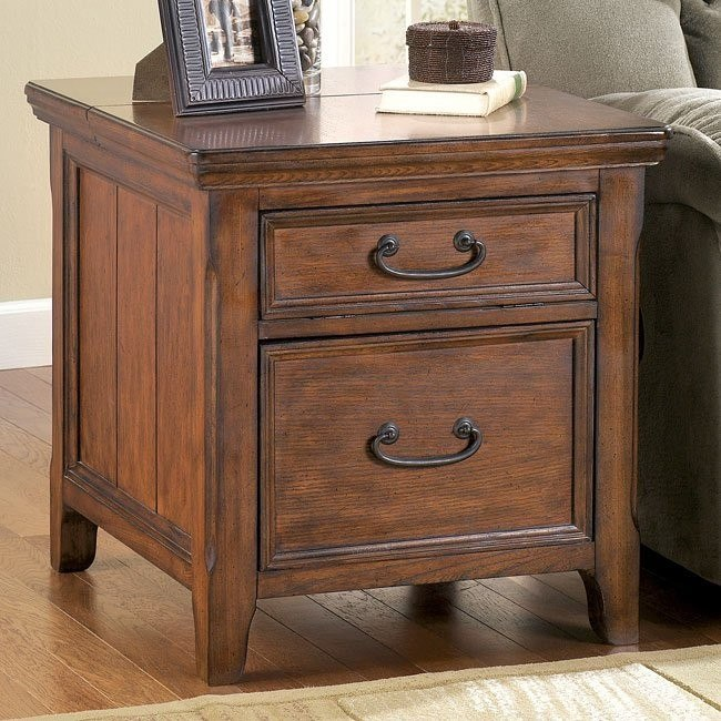 Woodboro End Table w/  Work Center
