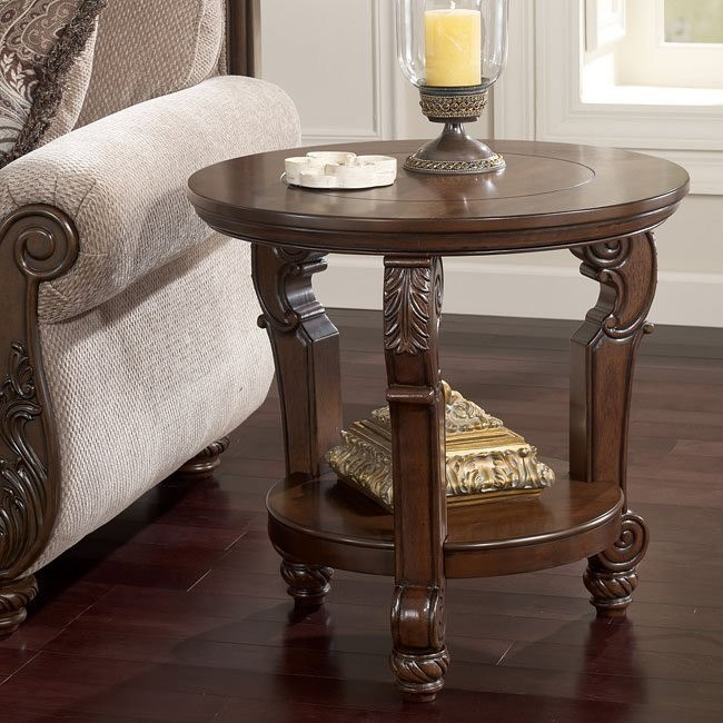 San Martin Round End Table