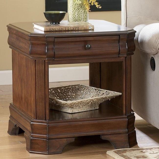 Hamlyn Rectangular End Table w/ Shelf
