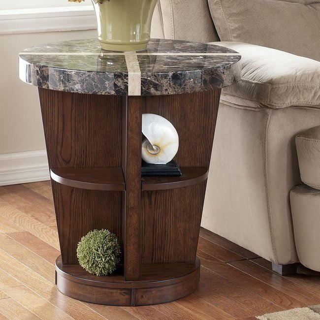 Lacey Round End Table