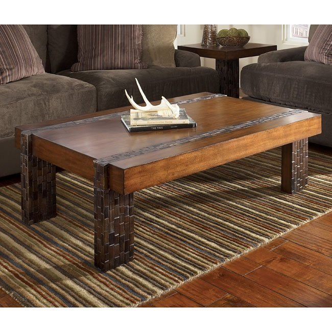 Brockland Inlay Occasional Table Set