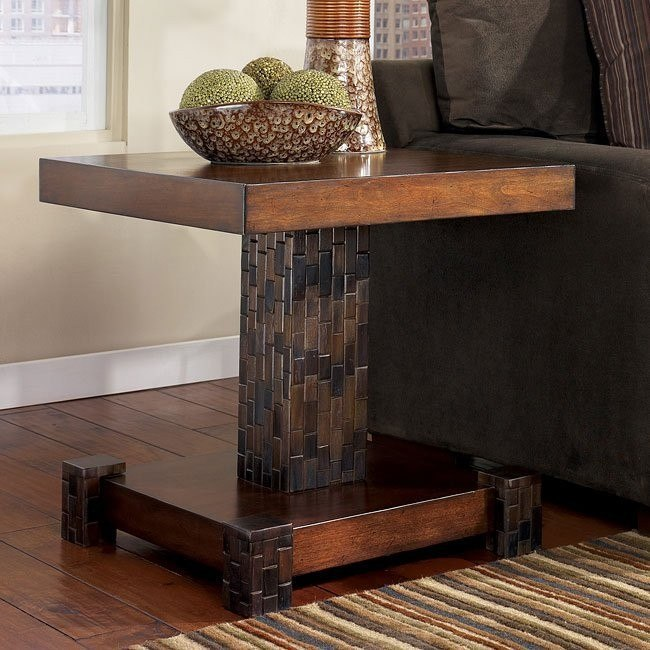 Brockland Inlay Square End Table