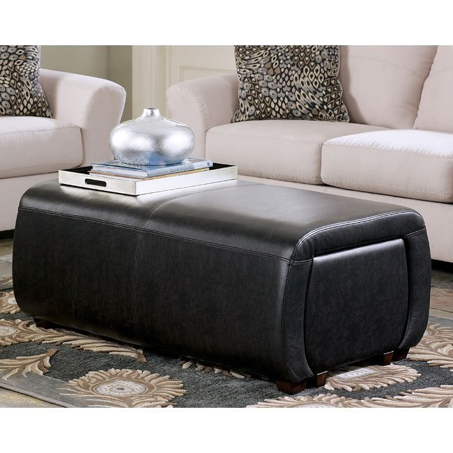 Accara Upholstered Ottoman w/ Cube Storage