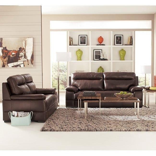 Luke Espresso Living Room Set