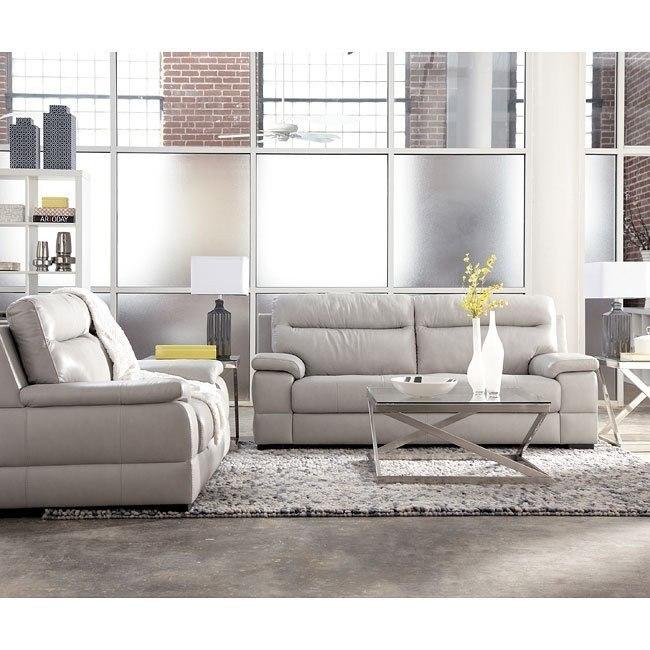 Luke Ice Gray Living Room Set