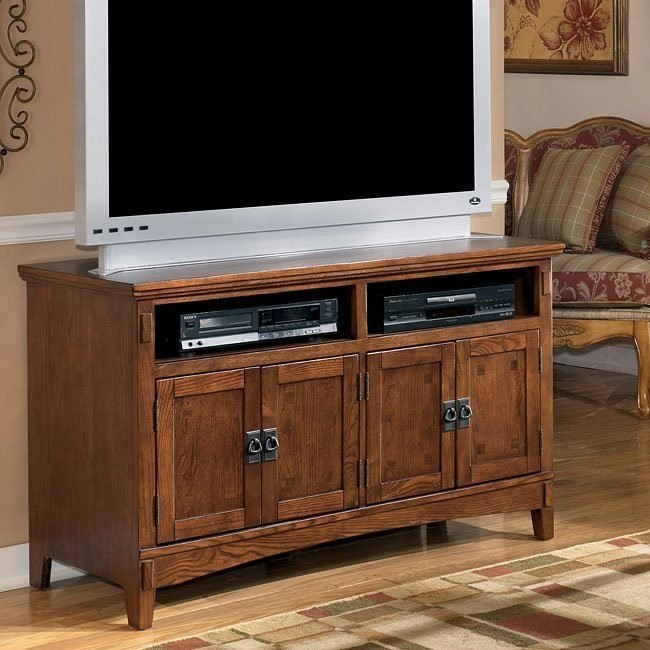 Cross Island 50 Inch Oak Tv Stand With Mission Style: Cross Island 50 Inch TV Stand Signature Design By Ashley