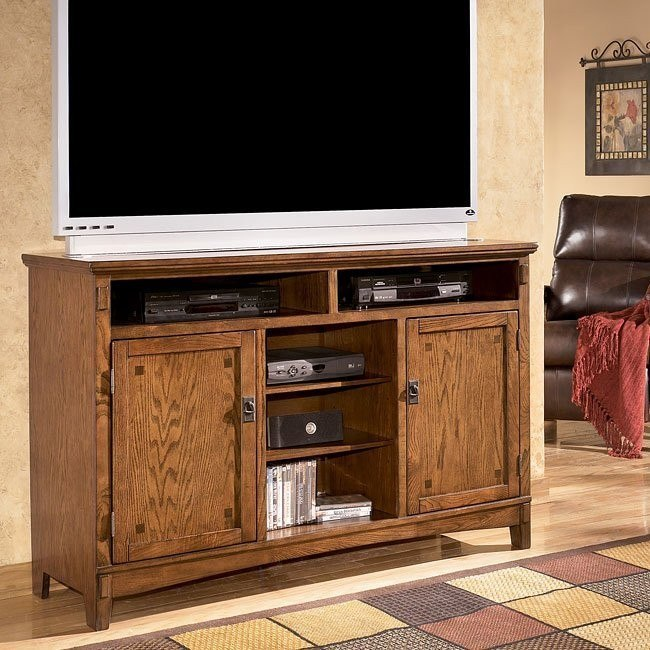 Cross Island Oversized TV Stand