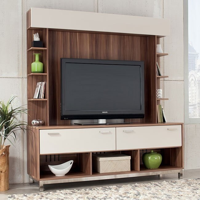 Candiac TV Stand w/ Back Panel